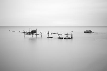 Stilt fishing huts near Ortona, Punta Aderci