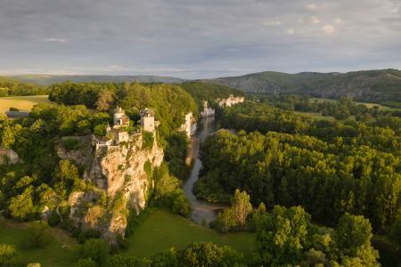 Lacave on the river Dordogne, Lot, France