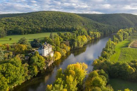 Chateau de la Treyne on the Dordogne river, Lot, France
