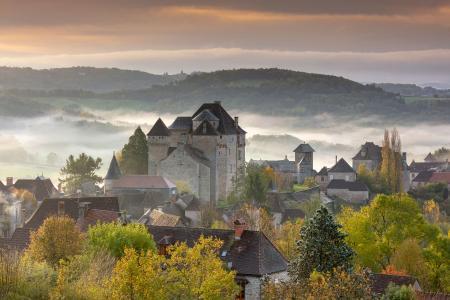 Curemonte in the autumn, Correze, France