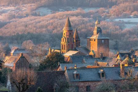 Collonges-la-Rouge in the winter, Correze, Nouvelle-Aquitaine, France