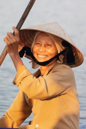 Vietnamese fisherwoman
