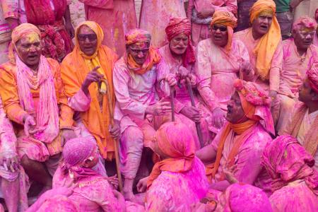 Colourful holy men