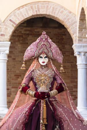 An Indian costume at the Venice Carnival