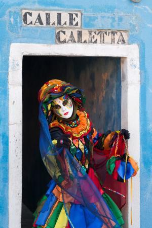 Colourful lady