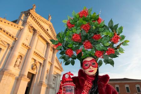 Rose woman on San Giorgio Maggiore