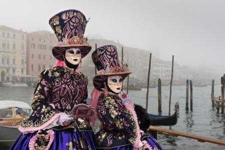 Costumes in the fog
