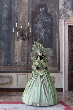 The green woman in the ballroom