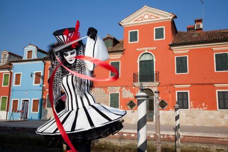 Daniella the clown, Venice Carnival