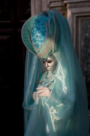 Lady in turquoise, Venice Carnival
