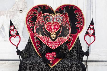 Love hearts at the Venice Carnival